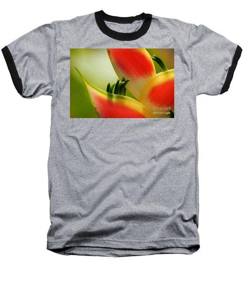 Lobster Claw Flower Baseball T-Shirt