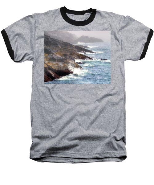 Baseball T-Shirt featuring the photograph Lobster Cove by Tom Cameron