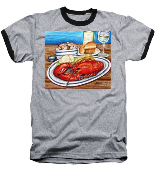Lobster Dinner Baseball T-Shirt by Patricia L Davidson