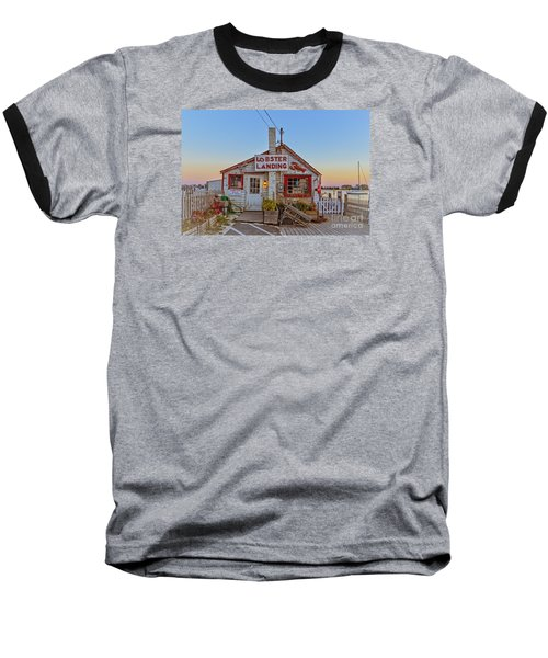 Baseball T-Shirt featuring the photograph Lobster Landing Sunset by Edward Fielding