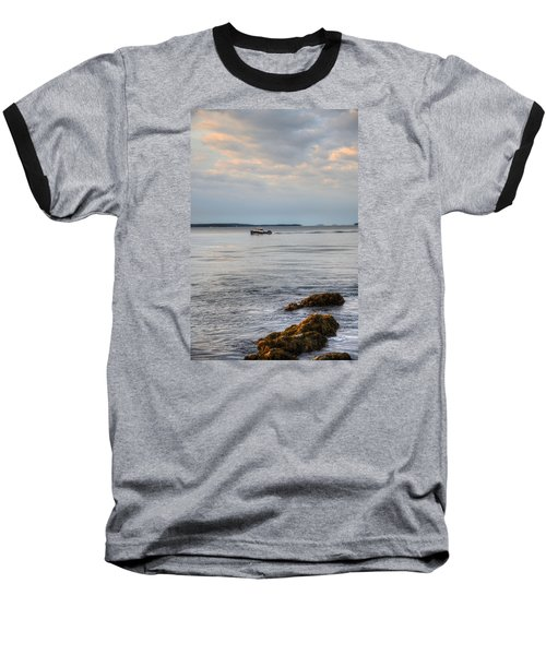 Lobsterboat Freedom II - Bass Harbor, Maine Baseball T-Shirt