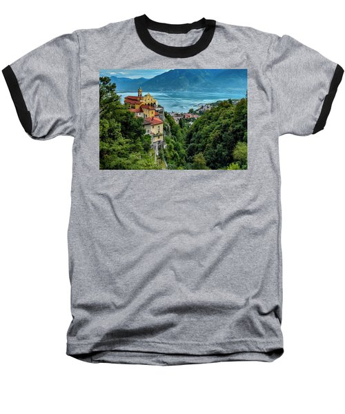 Baseball T-Shirt featuring the photograph Locarno Overview by Alan Toepfer