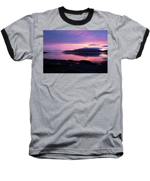 Loch Scridain Sunset Baseball T-Shirt