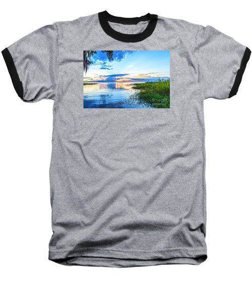Baseball T-Shirt featuring the photograph Lochloosa Lake by Anthony Baatz