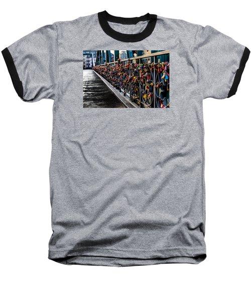 Locks Of Lock Bridge Baseball T-Shirt by Alpha Wanderlust