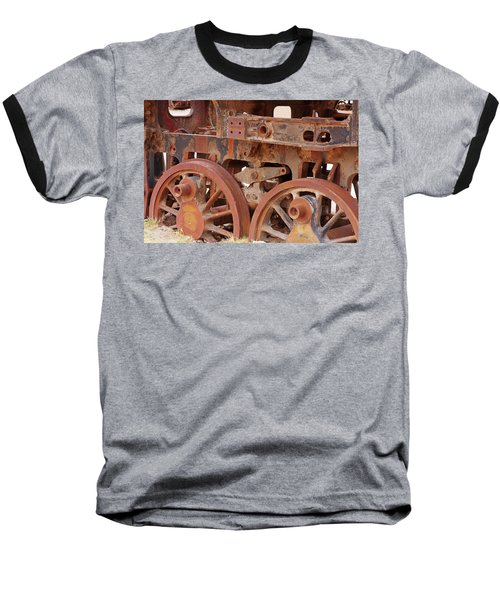 Baseball T-Shirt featuring the photograph Locomotive In The Desert by Aidan Moran