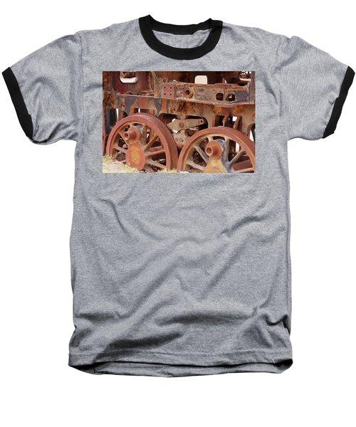 Locomotive In The Desert Baseball T-Shirt by Aidan Moran