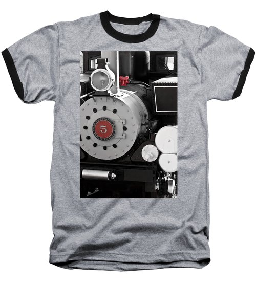 Locomotive Number Five Baseball T-Shirt