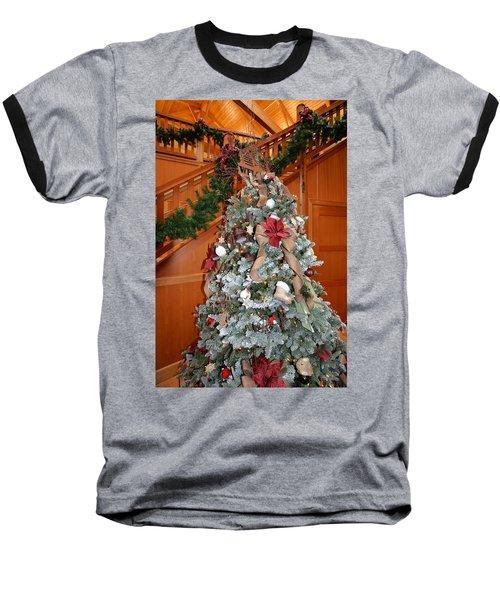 Lodge Lobby Tree Baseball T-Shirt