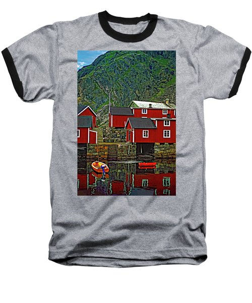 Lofoten Fishing Huts Baseball T-Shirt
