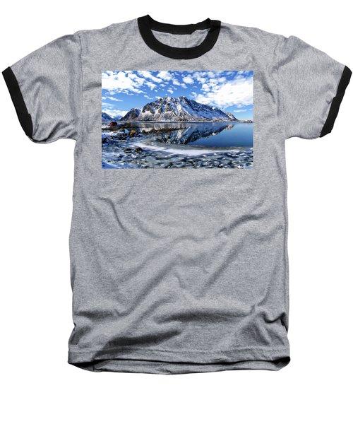 Lofoten Winter Scene Baseball T-Shirt