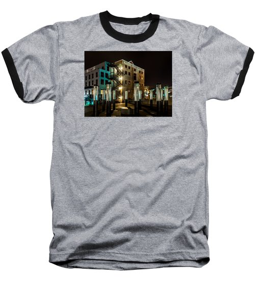 Lofts Overlooking Water Forest Baseball T-Shirt by Rob Green