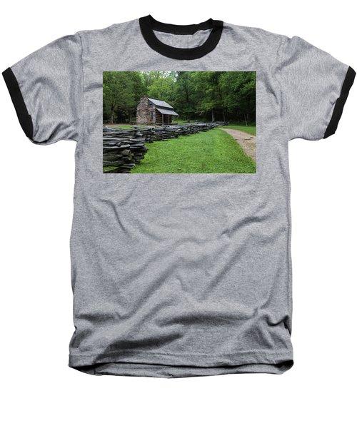 Log Cabin Baseball T-Shirt by David Cote