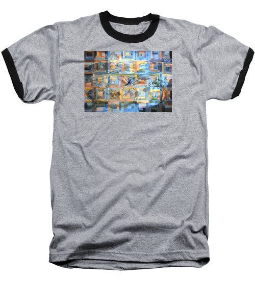 Baseball T-Shirt featuring the painting Log Cabin Quilt by Dawn Senior-Trask