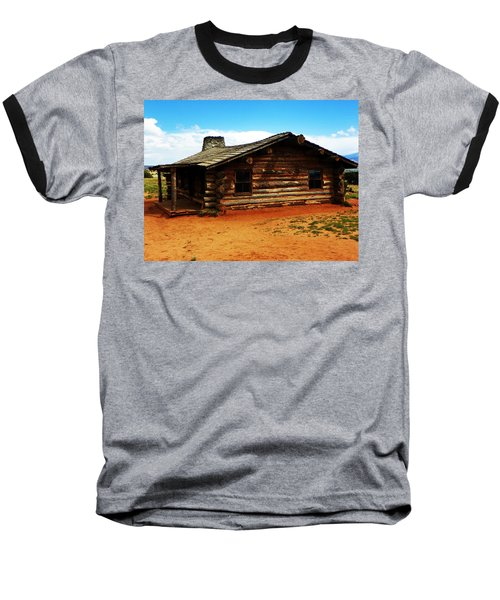 Baseball T-Shirt featuring the photograph Log Cabin Yr 1800 by Joseph Frank Baraba