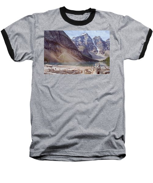 Logs At Lake Moraine Baseball T-Shirt