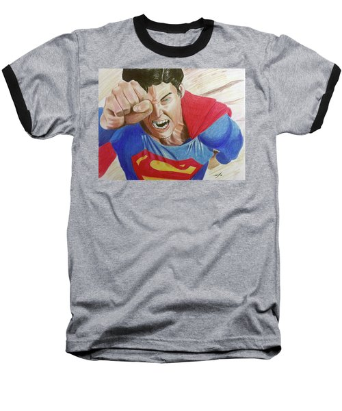 Baseball T-Shirt featuring the drawing Lois' Death by Michael McKenzie