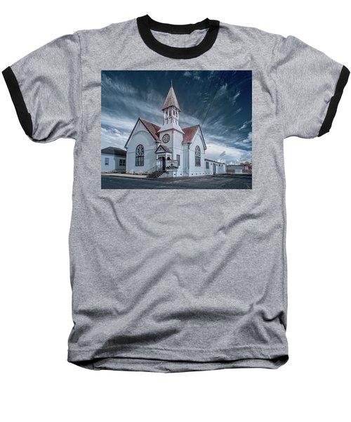 Baseball T-Shirt featuring the photograph Loleta Church by Greg Nyquist