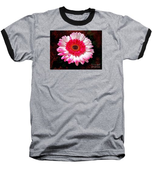 Baseball T-Shirt featuring the photograph Lollipop Gerber Daisy by Patricia L Davidson