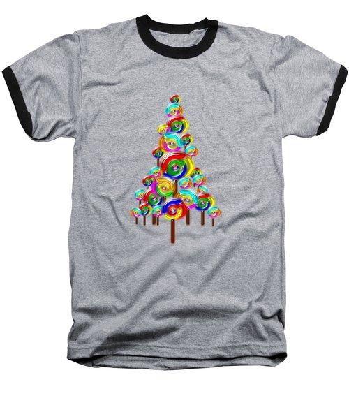 Lollipop Tree Baseball T-Shirt