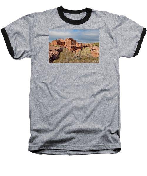 Lomaki Pueblo Ruins Baseball T-Shirt