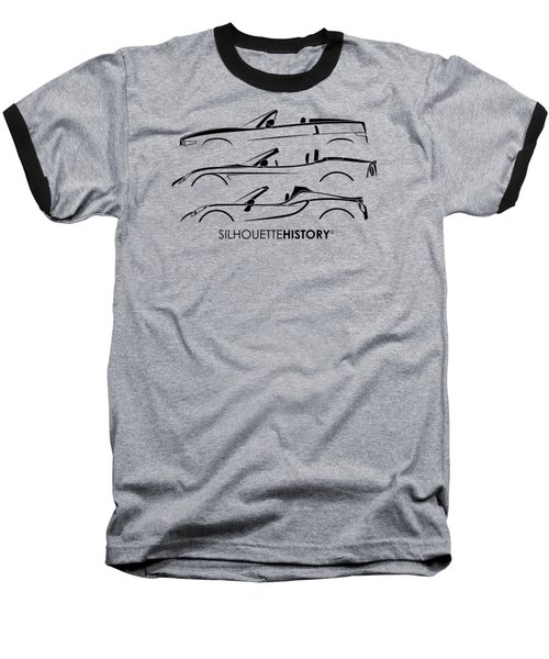 Lombard Roadster Silhouettehistory Baseball T-Shirt by Gabor Vida