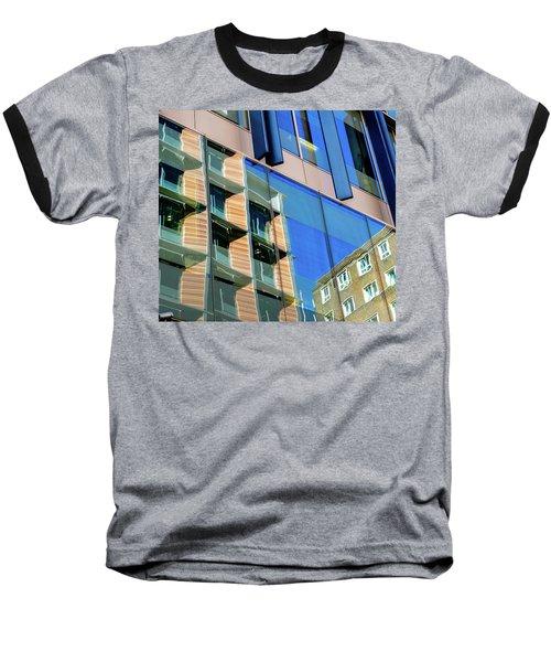 London Bankside Architecture 3 Baseball T-Shirt by Judi Saunders