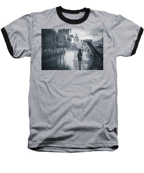 London Black And White Baseball T-Shirt