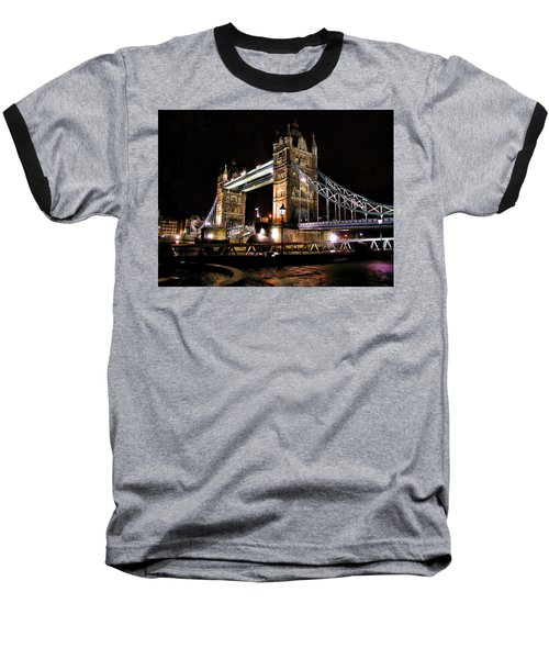 London Bridge At Night Baseball T-Shirt