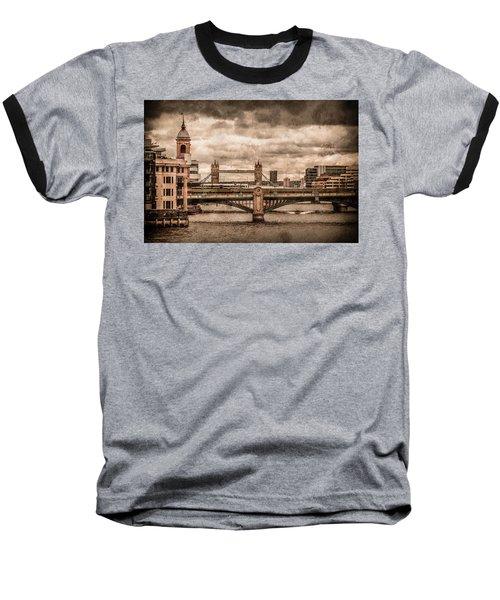 London, England - London Bridges Baseball T-Shirt