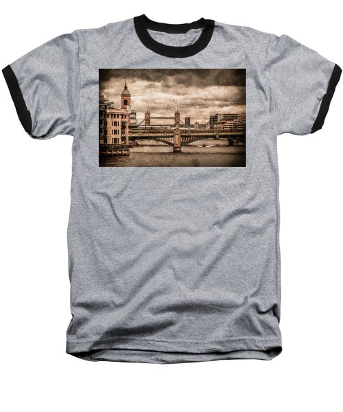 London, England - London Bridges Baseball T-Shirt