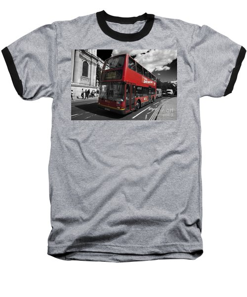 London Bus Baseball T-Shirt
