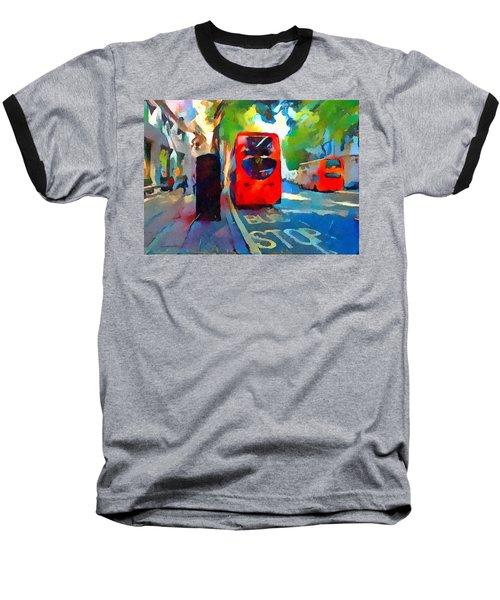 London Bus Stop Baseball T-Shirt