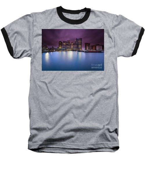 London Canary Wharf Baseball T-Shirt by Mariusz Czajkowski