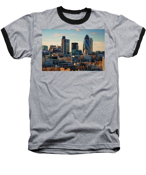 Baseball T-Shirt featuring the photograph London City Of Contrasts by Lois Bryan