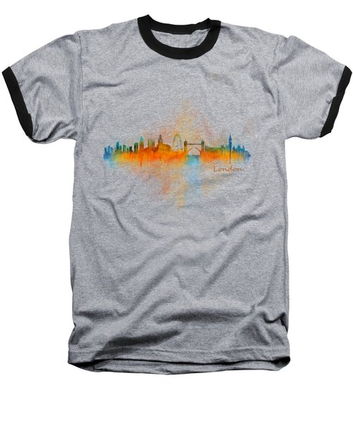 London City Skyline Uhq V4 Baseball T-Shirt