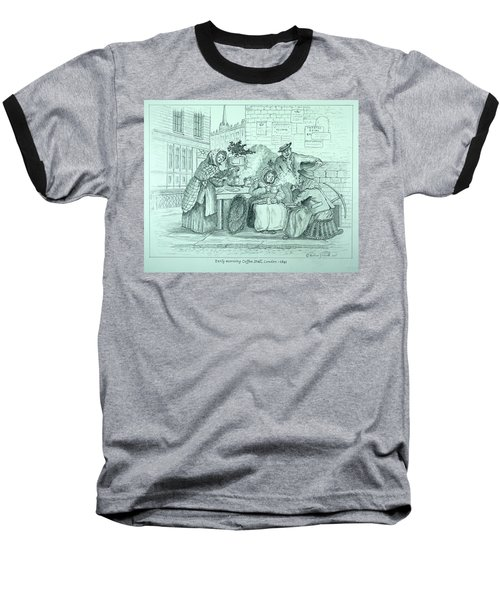 London Coffee Stall Baseball T-Shirt