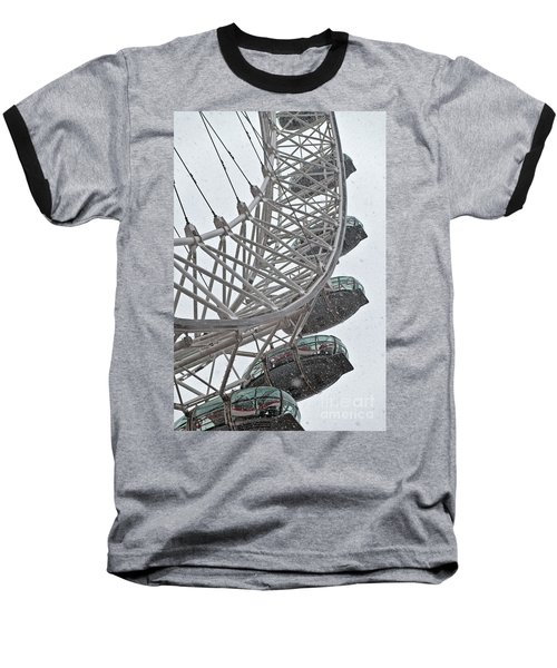 London Eye And Snow Baseball T-Shirt