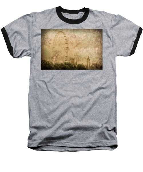 London, England - London Eye Baseball T-Shirt
