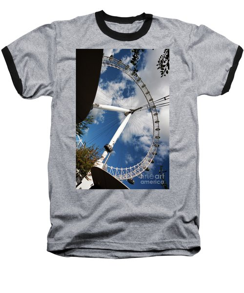 London Ferris Wheel Baseball T-Shirt