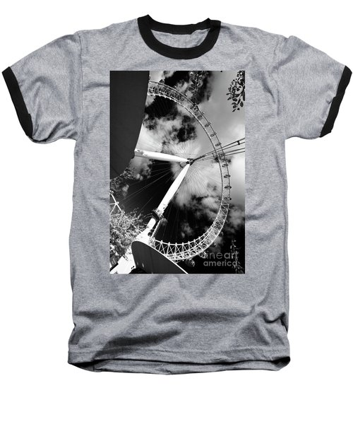 London Ferris Wheel Bw Baseball T-Shirt
