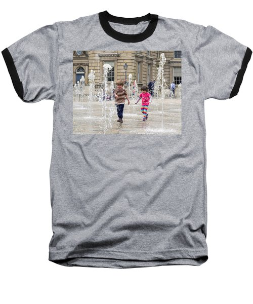 London Fun  Baseball T-Shirt by Keith Armstrong