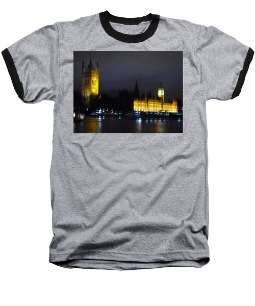 Baseball T-Shirt featuring the photograph London Late Night by Christin Brodie