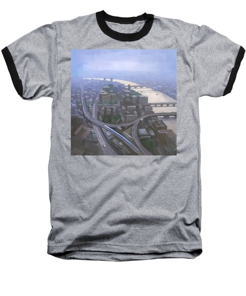 London, Looking West From The Shard Baseball T-Shirt by Steve Mitchell