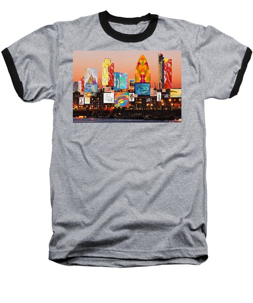 London Skyline Collage 2 Baseball T-Shirt
