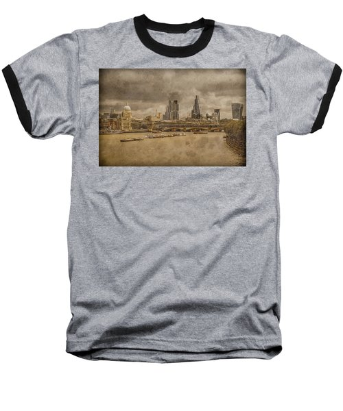 London, England - London Skyline East Baseball T-Shirt