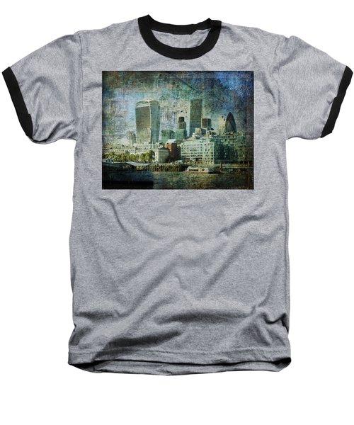 London Skyline Key Of Blue Baseball T-Shirt