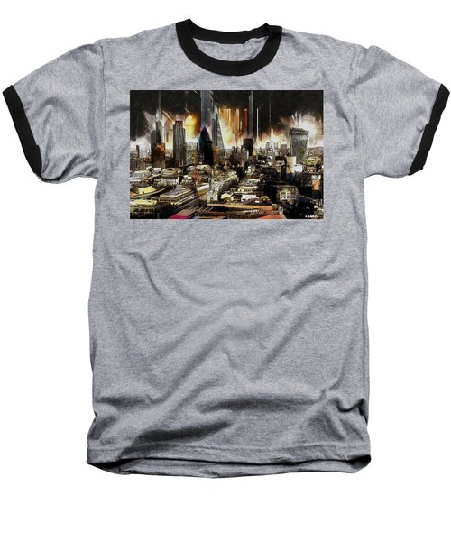 London Skyline Baseball T-Shirt by Kai Saarto