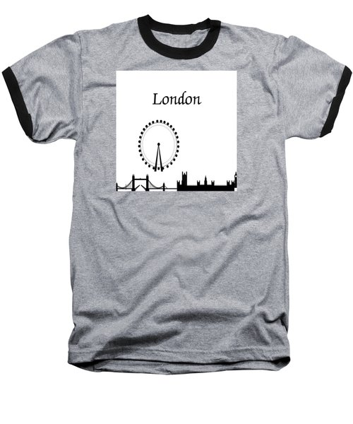 London Skyline Outline Baseball T-Shirt