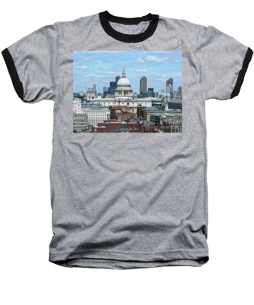 London Skyscrape - St. Paul's Baseball T-Shirt by Mini Arora